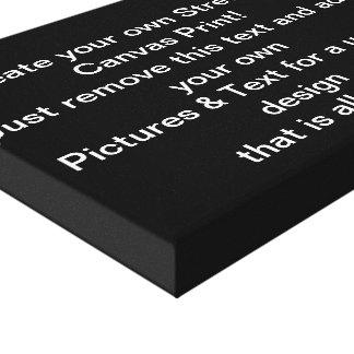 Cree su propia impresión estirada de la lona lienzo envuelto para galerias