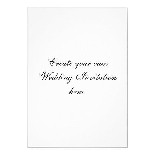 Cree su propia invitación de encargo de la bodas