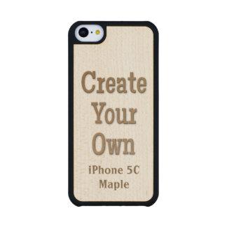 Cree su propia madera del arce del iPhone 5C Funda De iPhone 5C Slim Arce