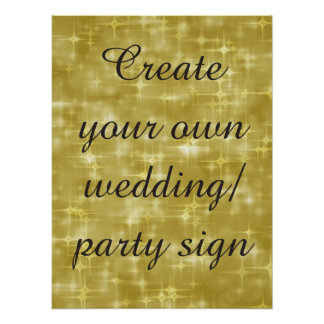 Cree su propia   muestra del banquete de boda del póster