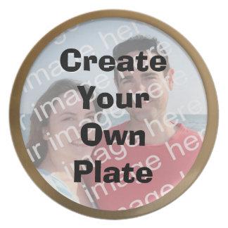 Cree su propia placa de la frontera del oro platos
