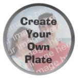 Cree su propia placa de plata de la frontera plato