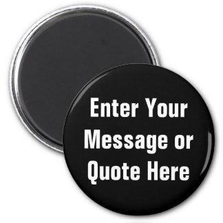 Cree su propia plantilla del regalo imán redondo 5 cm