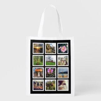 Cree su propia rejilla de encargo de la foto de bolsas para la compra