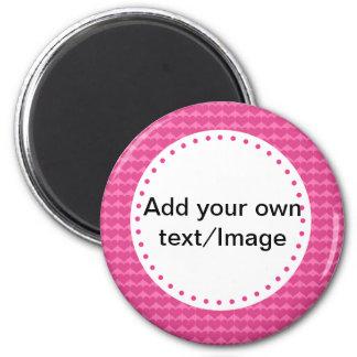 Cree su propia reserva del personalizado la fecha  imán redondo 5 cm
