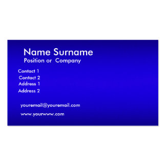Cree su propia tarjeta de visita azul