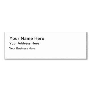 Cree su propia tarjeta de visita flaca