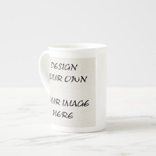 Cree su propia taza de la porcelana de hueso taza de porcelana