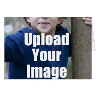 Cree su propia taza personalizada de la foto del tarjeta de felicitación