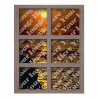 Cree su propia ventana con el marco blanqueado de  posters