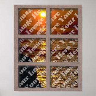 Cree su propia ventana con el marco blanqueado de  póster