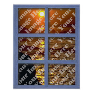 Cree su propia ventana con el marco del panel del  poster