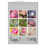 Cree su propio aniversario del collage de la foto tarjeta de felicitación