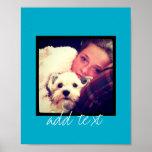 Cree su propio arte de encargo de Instagram Posters