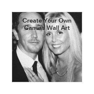 Cree su propio arte de la pared de la lona añaden  impresión en lienzo estirada