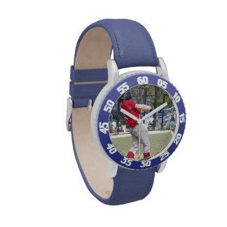 Cree su propio azul de encargo numerado bisel relojes de pulsera