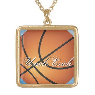 Cree su propio baloncesto de encargo del monograma colgante cuadrado