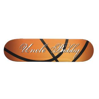 Cree su propio baloncesto de encargo del monograma patineta personalizada