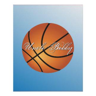 Cree su propio baloncesto de encargo del monograma perfect poster