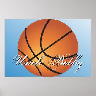 Cree su propio baloncesto de encargo del monograma póster