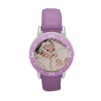 Cree su propio bisel púrpura de encargo de las cin relojes de mano