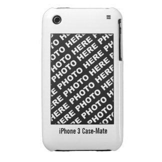 Cree su propio blanco de la caja de la casamata iPhone 3 Case-Mate coberturas