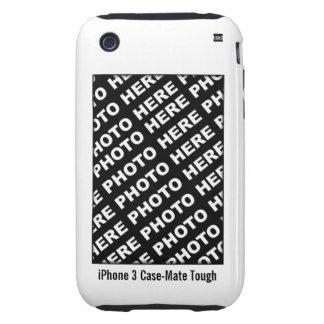 Cree su propio blanco duro del caso del iPhone 3 Tough iPhone 3 Carcasas