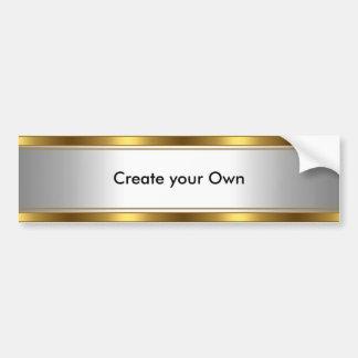 Cree su propio blanco y oro de la pegatina para el pegatina para auto
