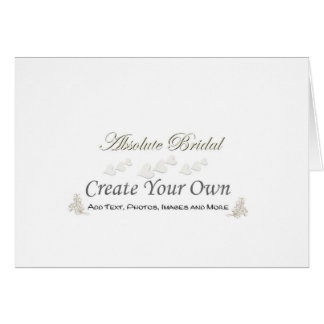 Cree su propio boda le agradecen cardar tarjeta de felicitación