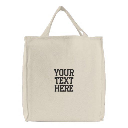 Cree su propio bolso bordado bolsas