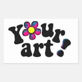 Cree su propio bookplate o nametag artístico pegatina rectangular