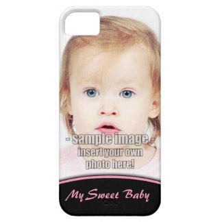 Cree su propio borde iPhone5 del rosa de la foto iPhone 5 Case-Mate Funda