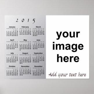 Cree su propio calendario 2015 de pared de encargo poster