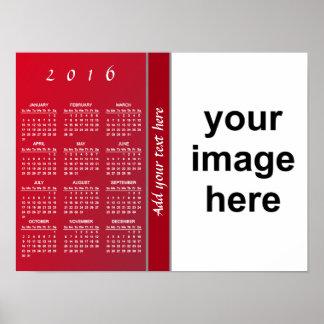 Cree su propio calendario de encargo 2016 de la póster