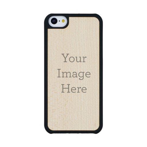 Cree su propio caso de madera del iPhone 5C Funda De iPhone 5C Slim Arce