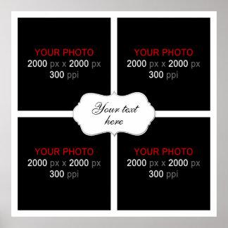 Cree su propio collage 003 de la foto del boda póster