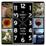 Cree su propio collage de la foto de Deco 6 Reloj De Pared