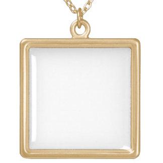 Cree su propio cuadrado grande del final del oro colgante cuadrado