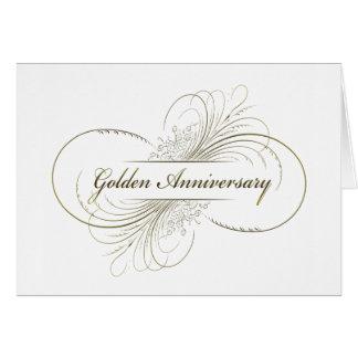 Cree su propio diseño de oro del aniversario tarjeta de felicitación