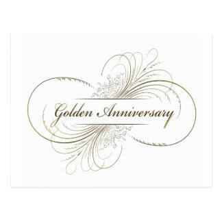 Cree su propio diseño de oro del aniversario tarjetas postales