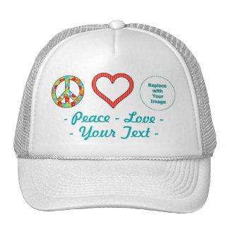 Cree su propio diseño personalizado del amor de la gorras