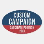 Cree su propio engranaje de la campaña pegatina ovalada