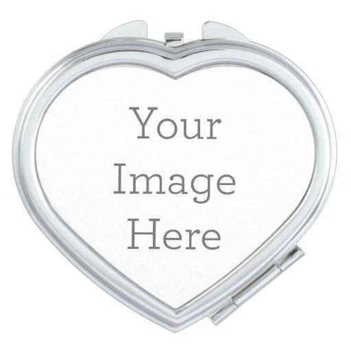 Cree su propio espejo compacto - corazón