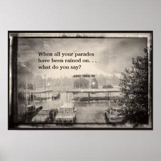 Cree su propio estacionamiento lluvioso de la cita impresiones