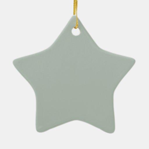 Cree su propio gris de ceniza de encargo adorno navideño de cerámica en forma de estrella