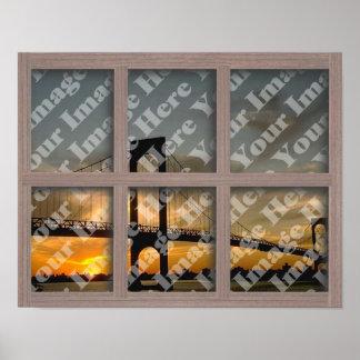 Cree su propio marco de ventana blanqueado 6 crist póster