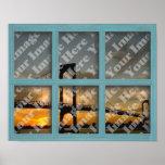 Cree su propio marco de ventana de madera verde de posters