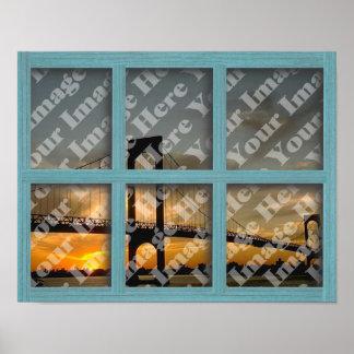Cree su propio marco de ventana de madera verde de póster