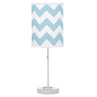 Cree su propio modelo de zigzag azul claro grande lámpara de escritorio