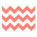Cree su propio modelo de zigzag de color salmón tarjeta postal